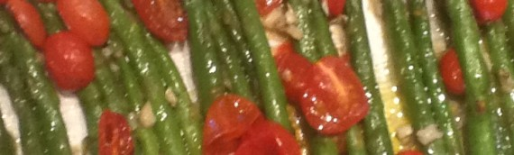 Roasted Asparagus with Garlic and Cherry Tomatoes