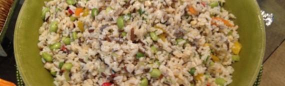 Brown, Jasmine, and Wild Rice Salad